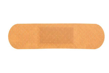 medical adhesive bandage isolated on white Imagens