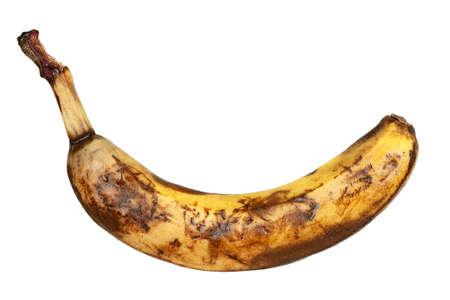 overripe: overripe banana isolated on white