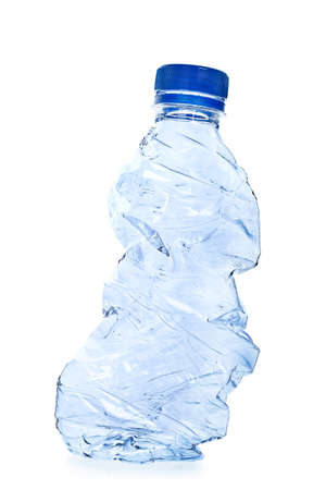used plastic bottle isolated on white