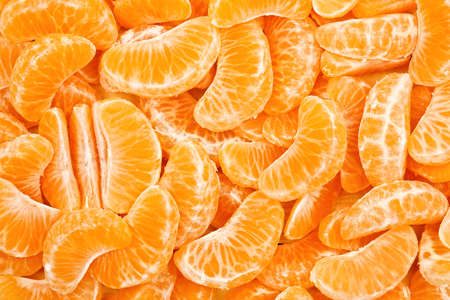 many tangerine slices for background use