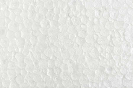 macro of white foam board texture Stock Photo