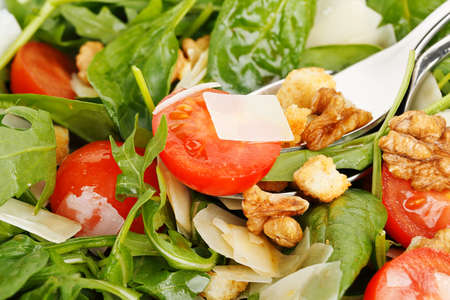 bowl of italian salad full frame photo
