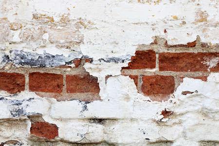 decrepit: decrepit brick wall for backgrounds, full frame Stock Photo