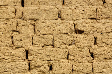 mud wall: adobe wall closeup for background use, full frame
