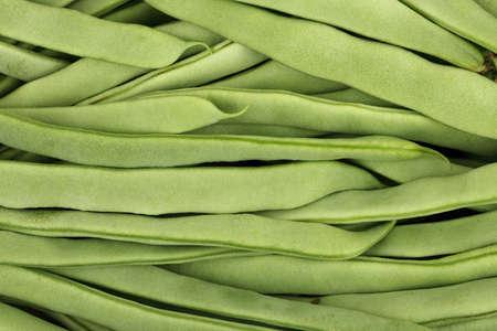 long beans: closeup of uncooked runner beans full frame