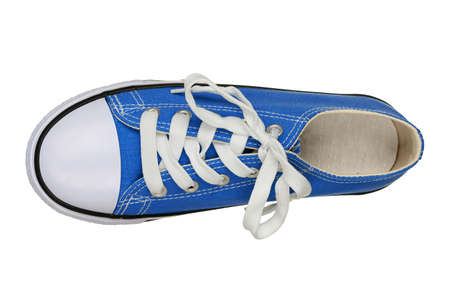 sneakers: top view of single sneaker isolated on white