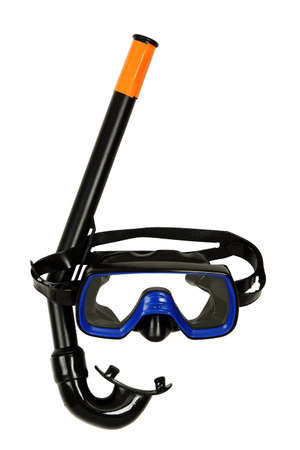 diving mask: snorkel and diving mask isolated on white
