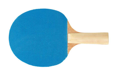 sport object: blue racket isolated on white