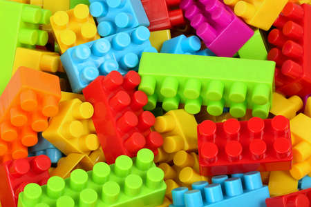jumbled: collection of colorful toy blocks