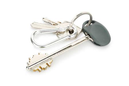 keys isolated: house keys isolated on white