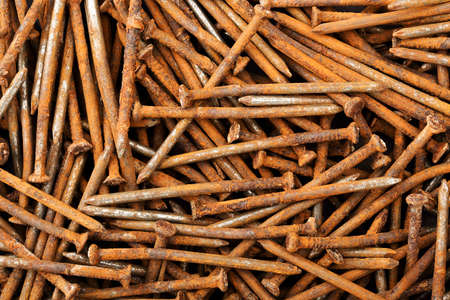 closeup of rusty nails for background use
