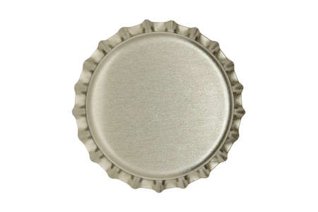 macro of metallic bottle cap isolated on white Imagens