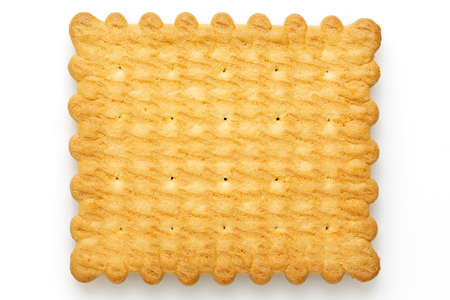 closeup of biscuit isolated on white Stockfoto