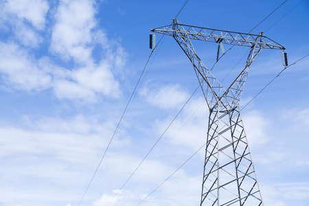 high voltage transmission tower or pylon