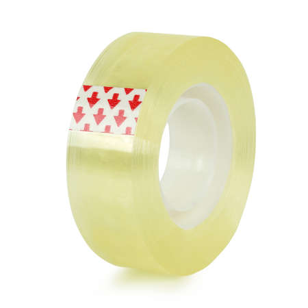 roll of sticky tape isolated on white