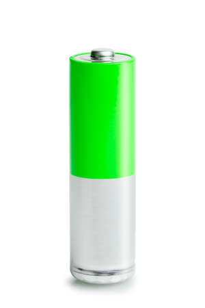single AA battery isolated on white