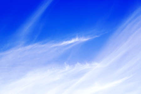 beautiful blue sky with abstract cloud patterns