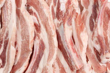 close up of raw pork belly meat Zdjęcie Seryjne