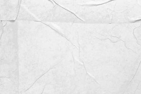 wet and wrinkled white paper as background