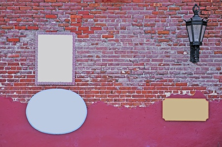 partment: Abstract background with old brick wall.