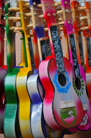 Acoustic cutaway guitar in Progresso - Mexico Stock Photo