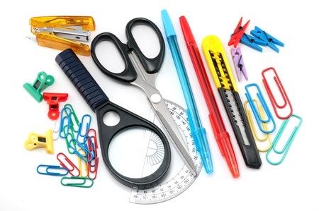 Assortment of stationery Stock Photo