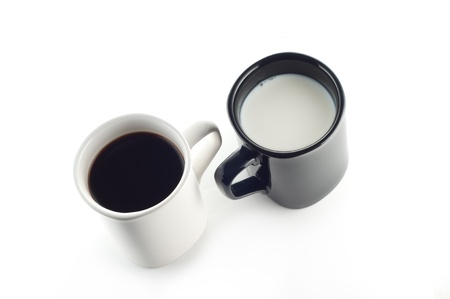 Milk and coffee photo