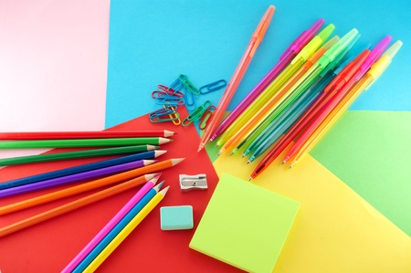 Assortment of stationery photo