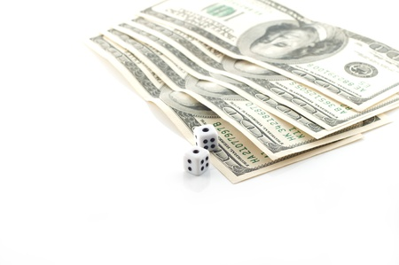 Dice and money Stock Photo - 14273958