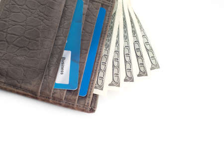Wallet with a lot of money Stock Photo
