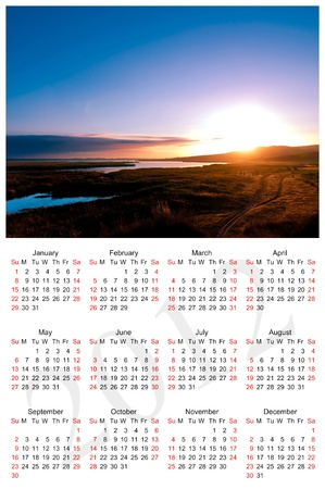 mon 12: Calendar for 2012 isolated on white background