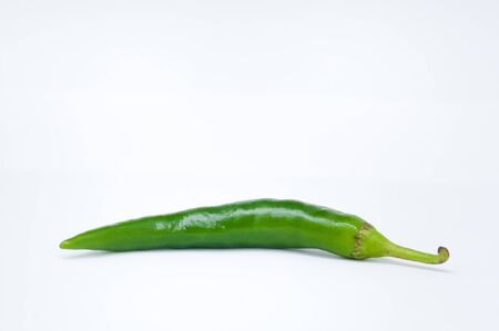 Green hot pepper photo