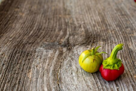 Capsicum and tomato Stock Photo