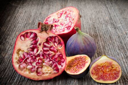 Pomegranate and fig photo