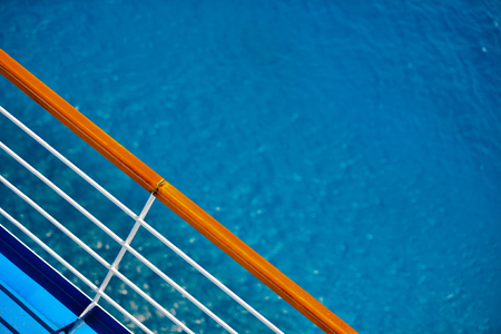 Cruise Ship Deck Railing View
