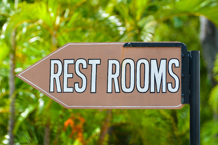 rest room: Rest Room sign Stock Photo