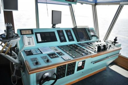 Centre de commandement à bord d'un navire de croisière Banque d'images - 24417787