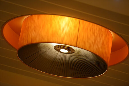 lighting fixtures: Lamp on the ceiling Stock Photo