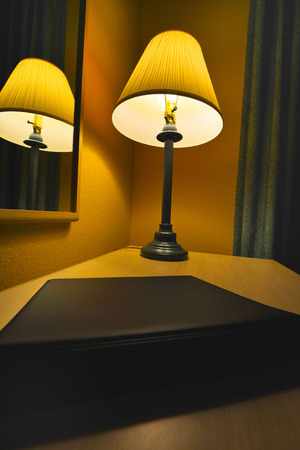 Lamp in a Luxury Hotel Business Travel Room At A Spa Resort  photo