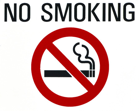 No Smoking Sign on white  photo