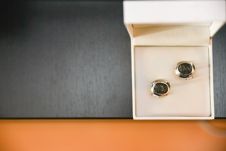 cuff links: Cuff links in a wedding day