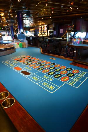 Casino roulette, gambling casino concept