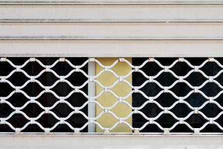 Pattern metal grille gate close-up