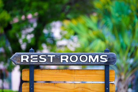 Restroom Sign Outdoors photo