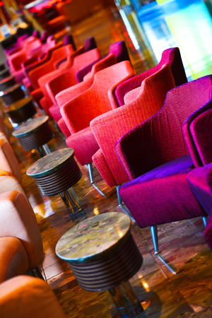 Red bar armchair Stock Photo - 24696989