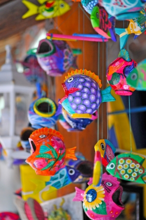 Face ceramic fish in Cozumel - Mexico