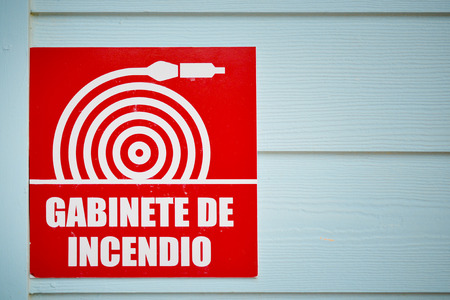 Gabinete de incendio sign or Fire Cabinet Sign photo