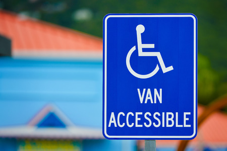 Van Accessible Sign for handicapped person photo