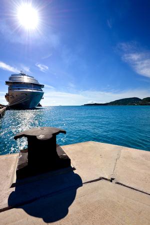 near: Shipping cruise near shore