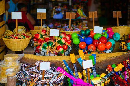 Homemade multicolored items display Banco de Imagens